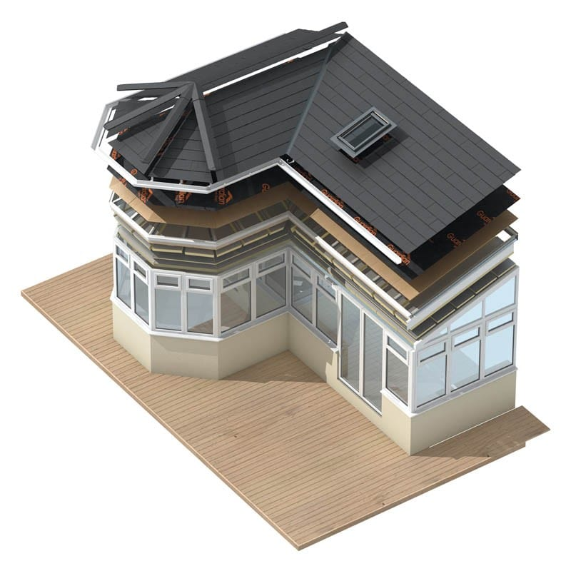 guardian warm roof - Roof under construction- Crownhill Conservatories