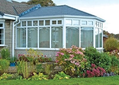 Guardian Warm Roof: Image of a conservatory with a grey Guardian Warm Roof.